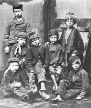 Destitute children typical admissions to Dr Barnardo's Home in 1874